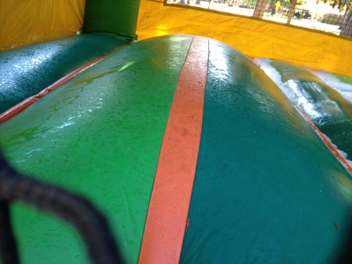 colorful interior of wet inflatable